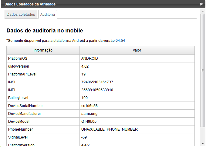 Auditoria mobile