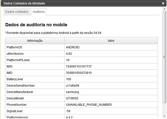 Auditoria mobile