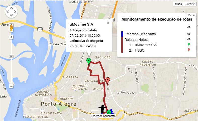 Mapa monitoramento execução 2