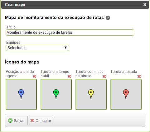 Mapa monitoramento execução