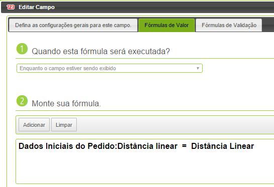 distância linear