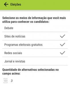Contagem de Alternativa - Campo Lista - App -  Umov.me