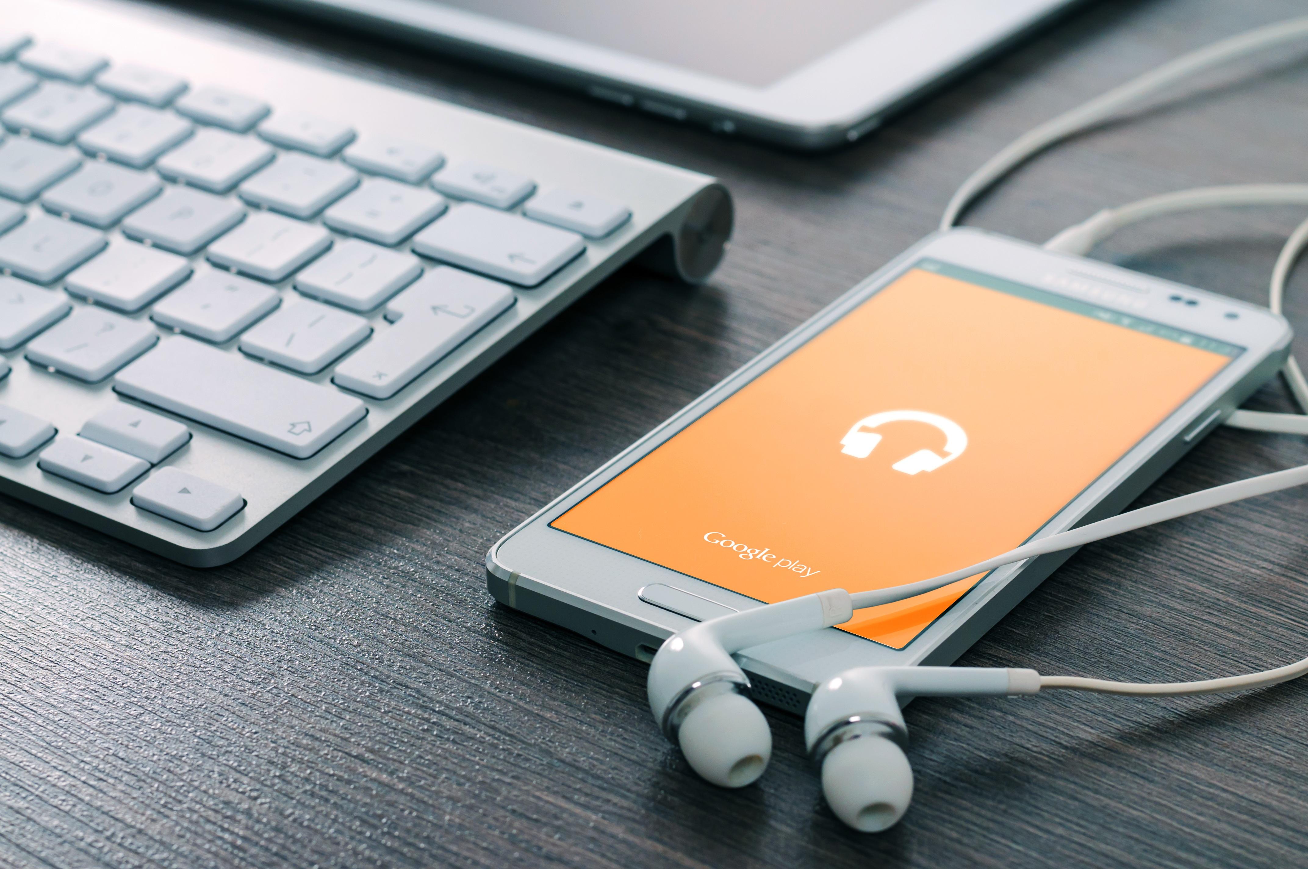 smartphone com gravação de audio