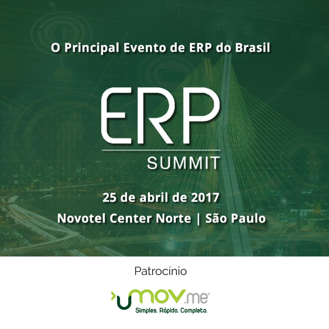 Logo da ERP Summit 2017 - Patrocinada pela Umov.me
