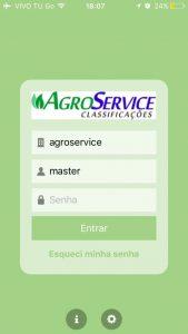 Aplicativo Agroservice - Login