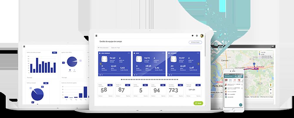 Gestão e análises integradas em uma plataforma completa