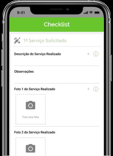 Checklist ordem de serviço - plano de manutenção