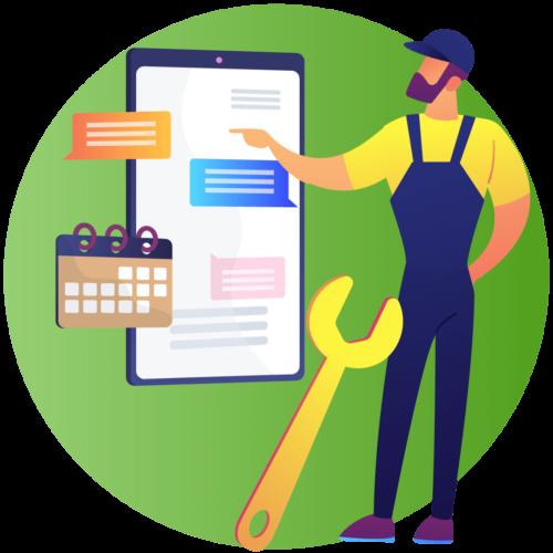 Sistema de ordem de serviço que empresas podem usar